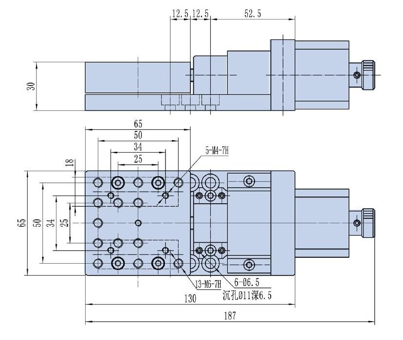 PP110-15 Precise Electric Translating Platform(Cross roller), Motorized Linear Stage, Linear Guide, Travel Range: 15mm