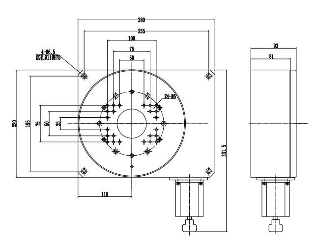 High Precision Electric Rotating Machine, Electric Rotating Platform PT-GD220H