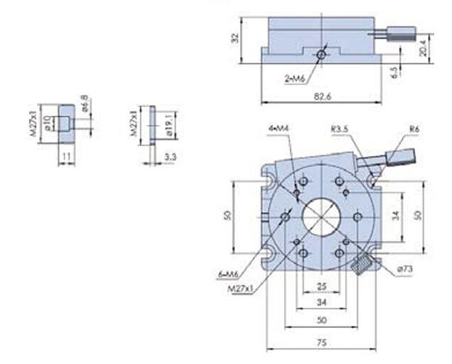 R Axis Manual Rotation Stage, Rotating Platform PT-SD204