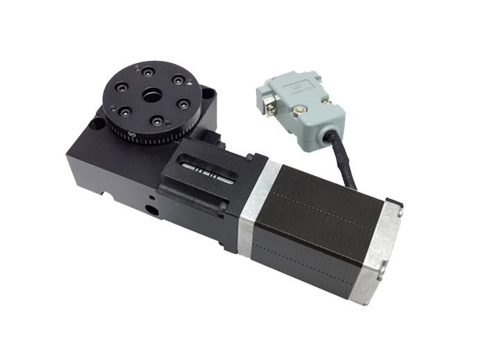 PX110-30 精密型电动旋转台(蜗轮蜗杆)  直径30mm 分度盘 进口电机