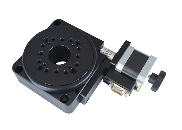PT-GD201 精密型电动旋转台(蜗轮蜗杆) 中空旋转台 100mm台面