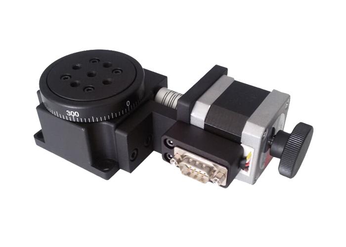 PX110-60电动旋转台位移台 角位台 角度转台 角度调节台 60mm台面
