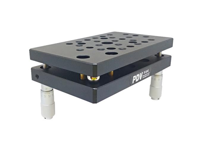 Two Axis Manual Tilt Stage, High Load Tilt Platform, Precise Manual Tilt Stage PT-QX02