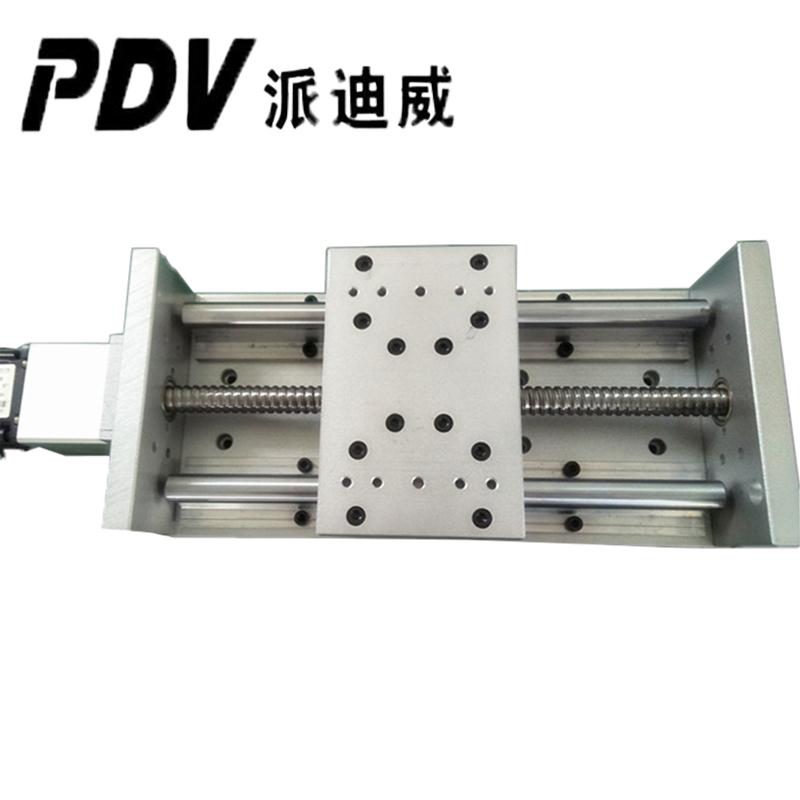 PT110 Linear Slider XYZ Slider Rail Ball Rod Handwheel Hand-operated Aluminum Bracket Rail Aluminum Alloy